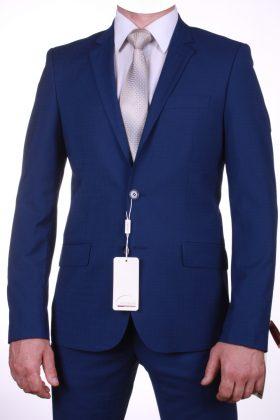 Приталенный синий костюм Альфа