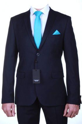 Костюм темно-синего цвета в полосу Шелби.